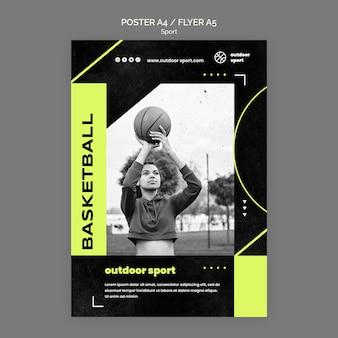Outdoor sport poster vorlage