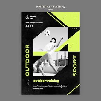 Outdoor-trainingsplakat vorlage