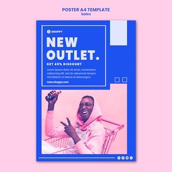 Outlet verkauf poster vorlage