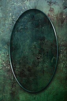 Ovaler rahmen auf abstrakter hintergrundillustration
