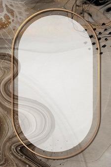 Ovaler rahmen auf neo memphis sozialem hintergrundmodell