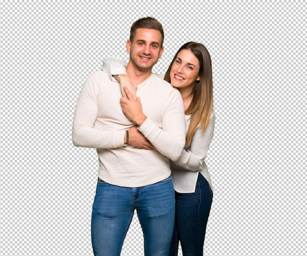 Paar im valentinstag umarmen