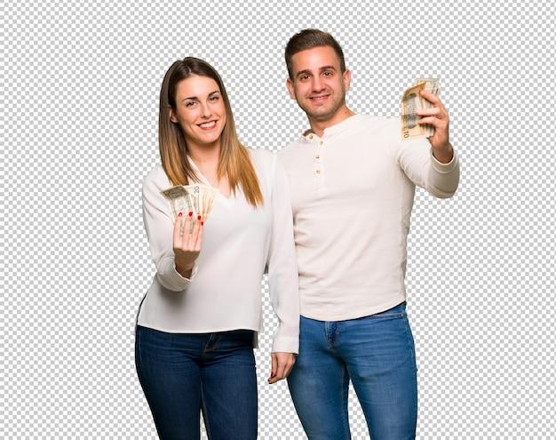 Paare am valentinstag, der viel geld nimmt