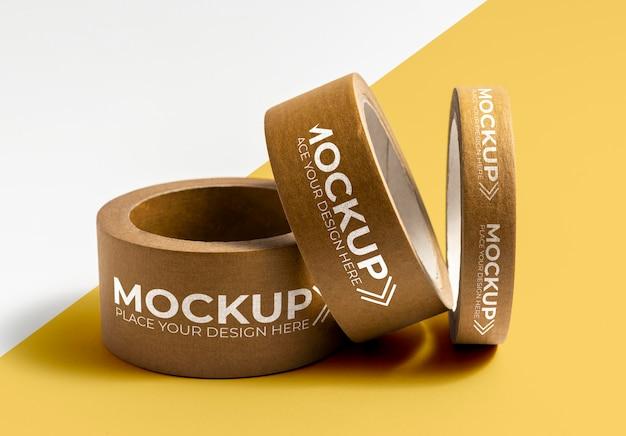 Packband-mock-up-anordnung