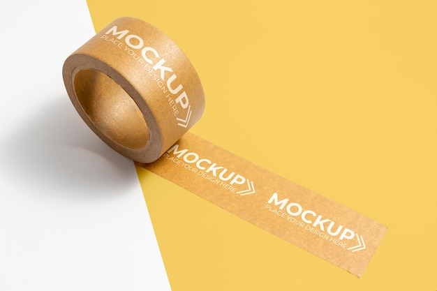 Packband-mock-up mit kopienraum