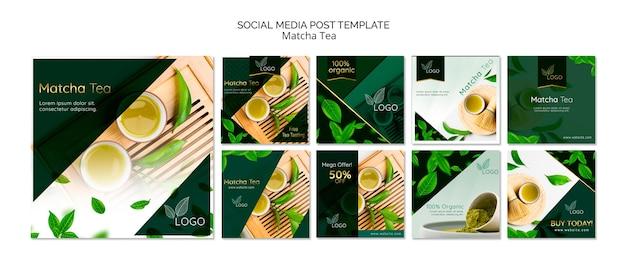 Packung mit vorlagen für social media-posts