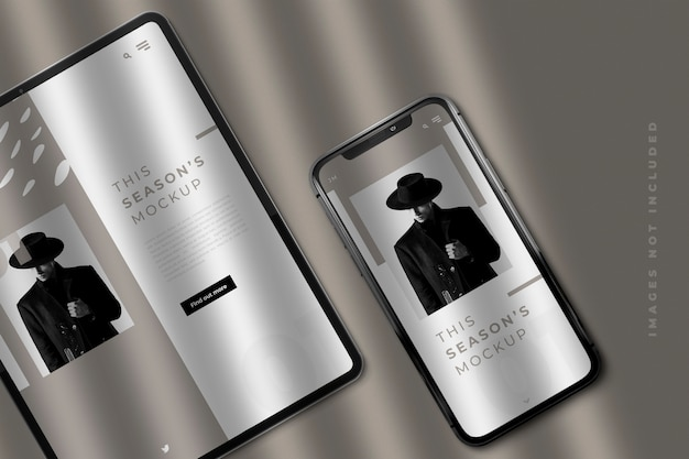 Pad und smartphone mockup