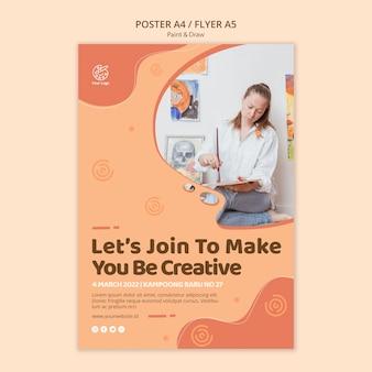 Paint & draw poster vorlage