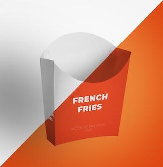 Paketbehälter für pommes-frites-modell