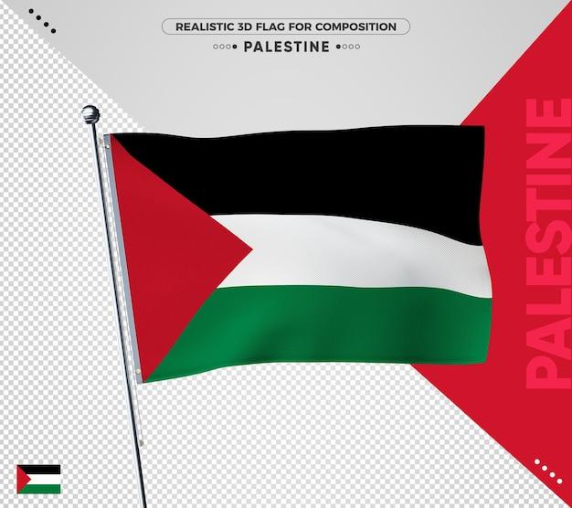 Palästina flagge für die komposition