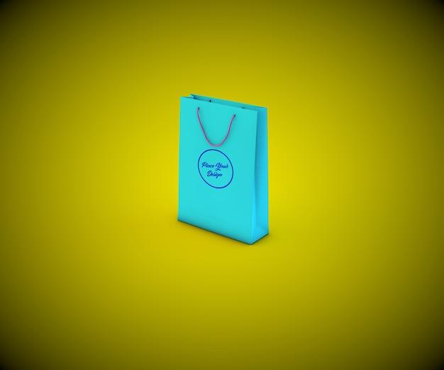 Papier einkaufstasche mock-up