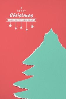 Papier frohe weihnachten und ein gutes neues jahr modell