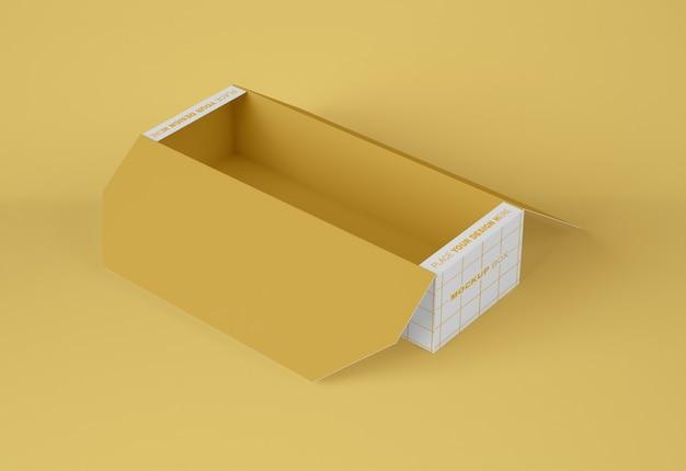 Papier geöffnet box-modell