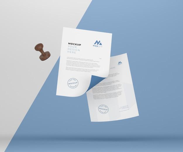 Papier- und siegelmodellzusammensetzung