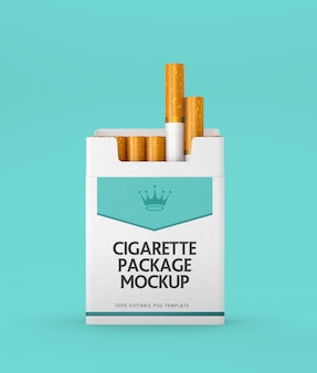 Papier zigarettenpackung mockup