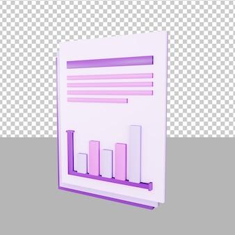 Papierdaten 3d-illustration business