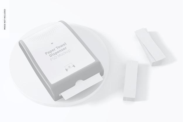 Papierhandtuchspender-modell, perspektivische ansicht