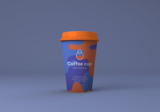 Papierkaffeetasse-brandingmodell psd