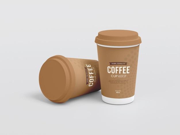 Papierkaffeetasse zum mitnehmen mockup
