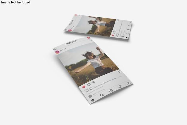 Papiermodell für instagram post