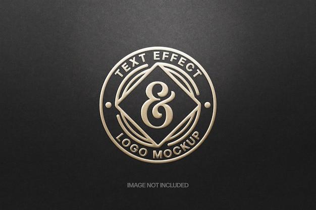 Papierprägung logo mockup