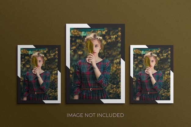 Papierrahmen fotomodell premium psd