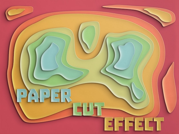 Papierschnitt-effekt vollständig anpassbar