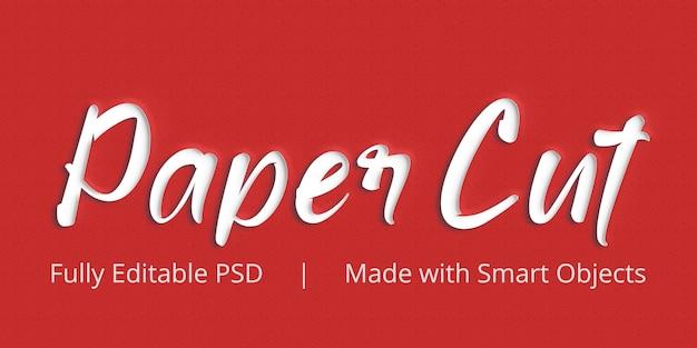 Papierschnitt-textstil-effekt