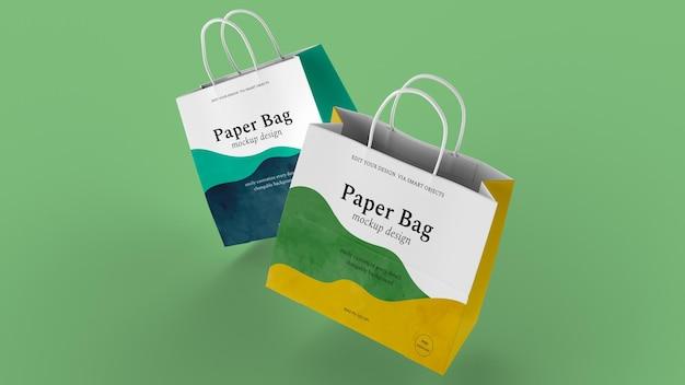 Papiertüte design isoliertes modell