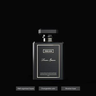 Parfüm-modell im 3d-rendering-design