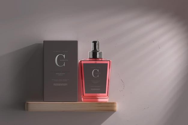 Parfümflasche mit box mockup