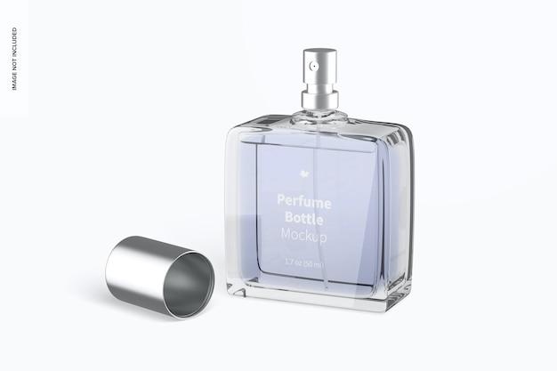 Parfümflasche mockup, geöffnet