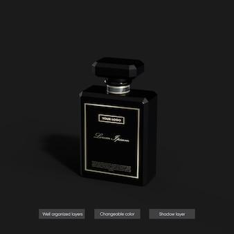 Parfümmodell im 3d-rendering-design