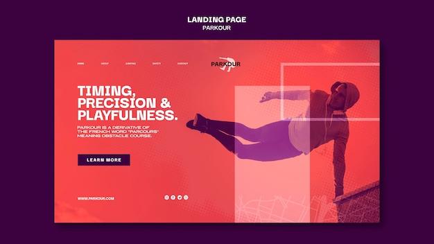 Parkour ad landing page vorlage