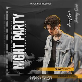 Party flyer vorlage oder social media post