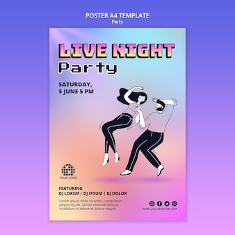 Party flyer vorlage