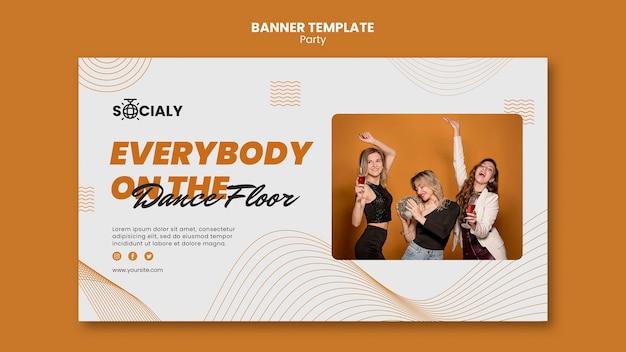 Party konzept banner vorlage