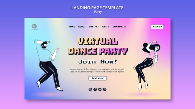 Party landing page