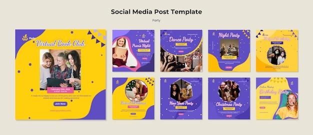Party social media post vorlage