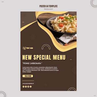 Pasta restaurant poster vorlage