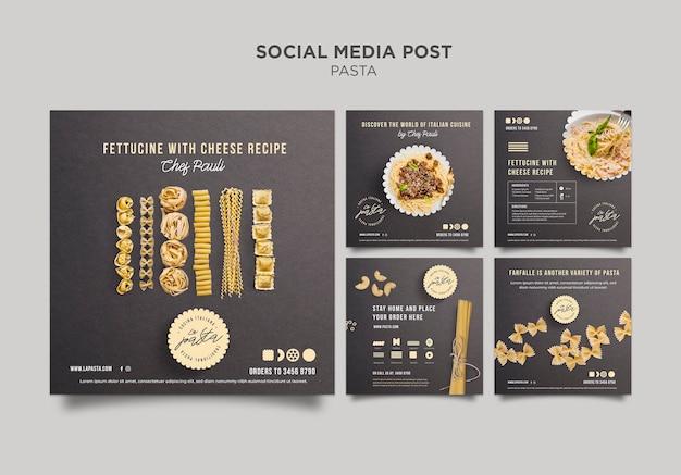 Pasta shop social media post vorlage