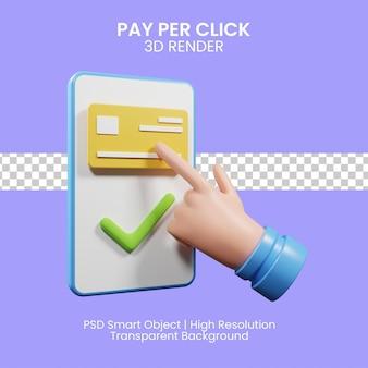 Pay-per-click-konzept 3d-darstellung