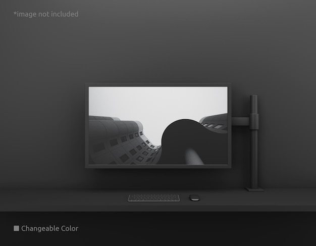 Pc-desktop-bildschirmmodell