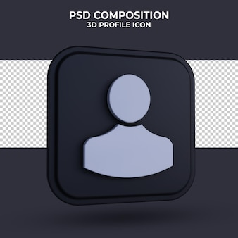 People icon 3d-rendering isoliert