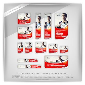 Perfektes business marketing google banner set