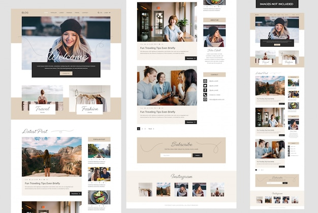 Persönliche blog-website-vorlage