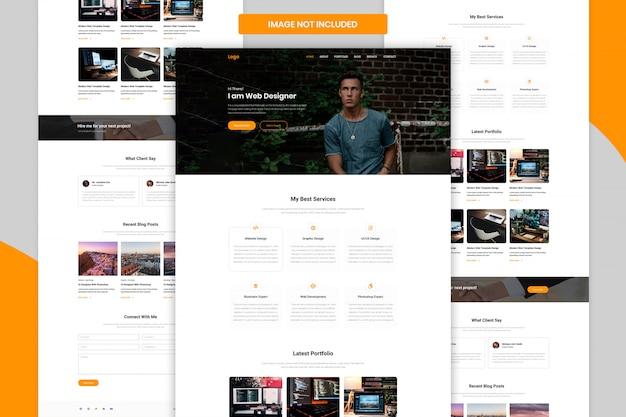 Persönliche portfolio-landingpage-webvorlage ui