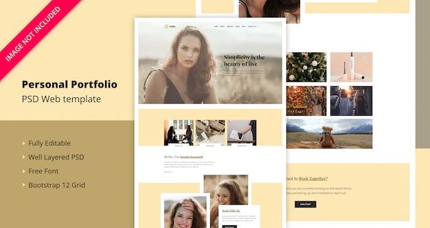 Persönliche portfolio-landingpage