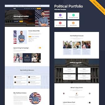 Persönliche portfolio-website-vorlage