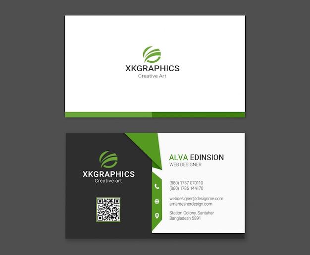 Persönliche webdesigner-visitenkarte